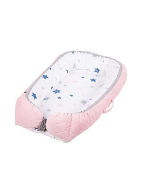 Hnízdečko ALBERO MIO Velvet Kids růžové